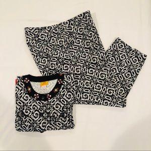 Ruby Rd Set Black & White Jacket & Pants